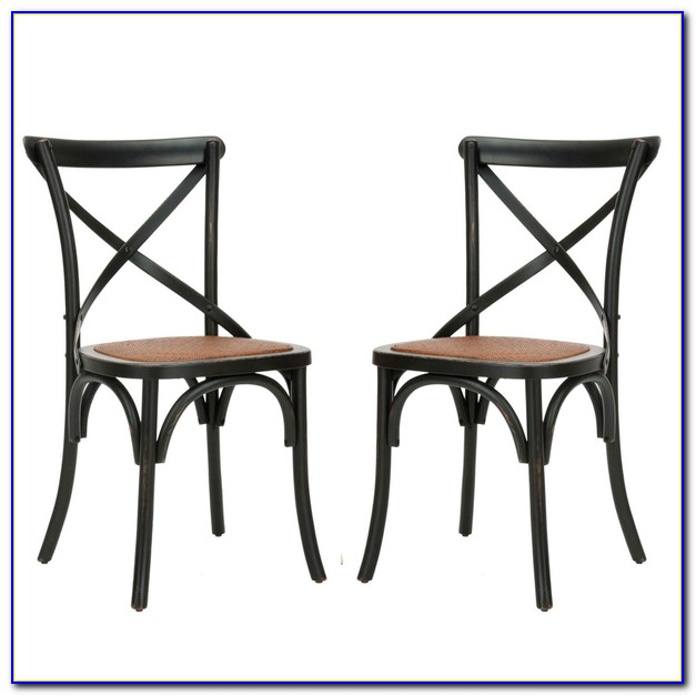 Espresso X Back Dining Chairs