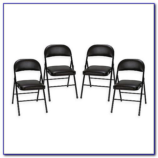 Fan Back Folding Chairs Set Of 4
