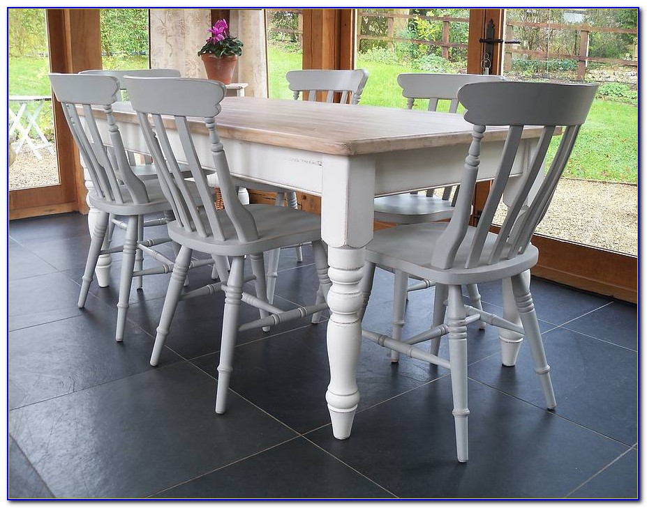 Farmhouse Dining Table And Chairs Set