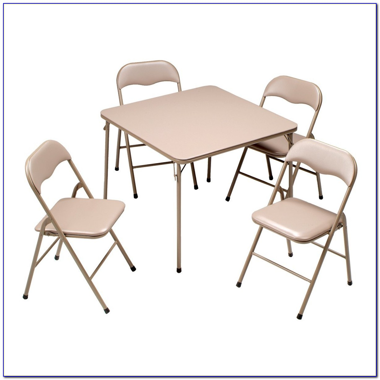 Folding Table With Chairs Attached
