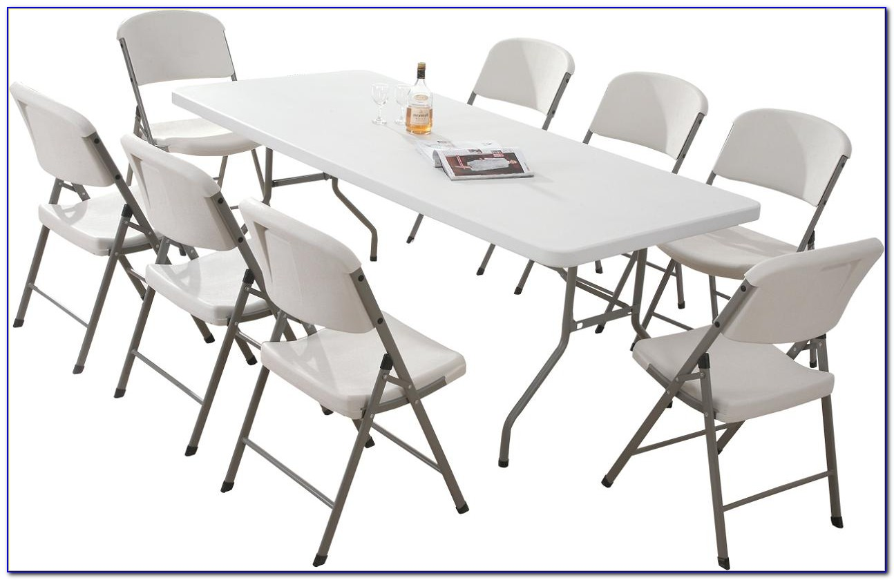 Folding Table With Chairs Underneath