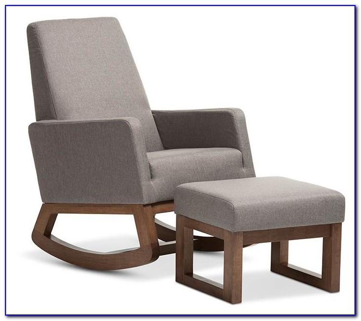 Gray Chair And Ottoman Set