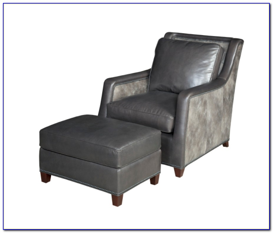 Gray Lounge Chair With Ottoman