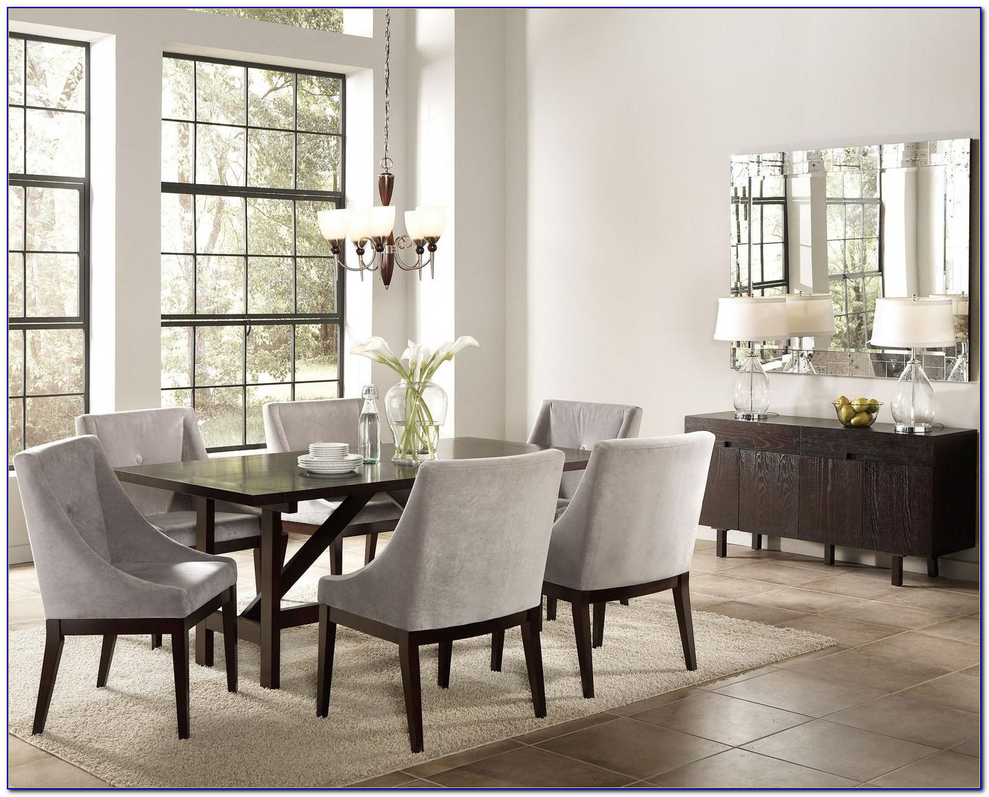 Grey Dining Room Chair Slipcovers