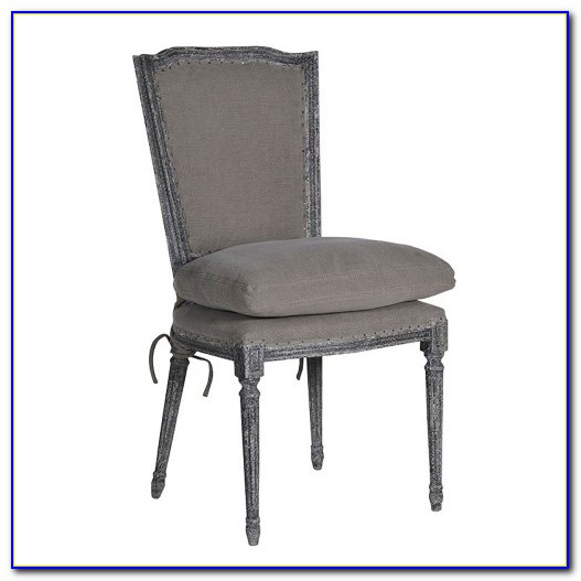 Grey Fabric Dining Chairs With Black Legs