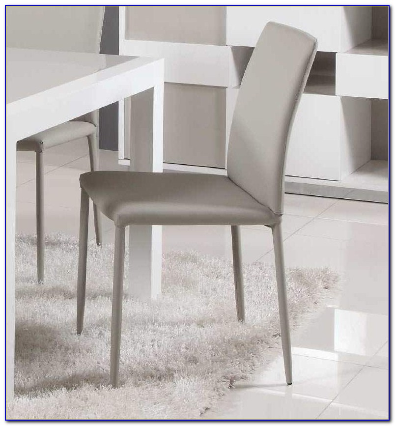 Grey Leather Dining Chairs Ebay