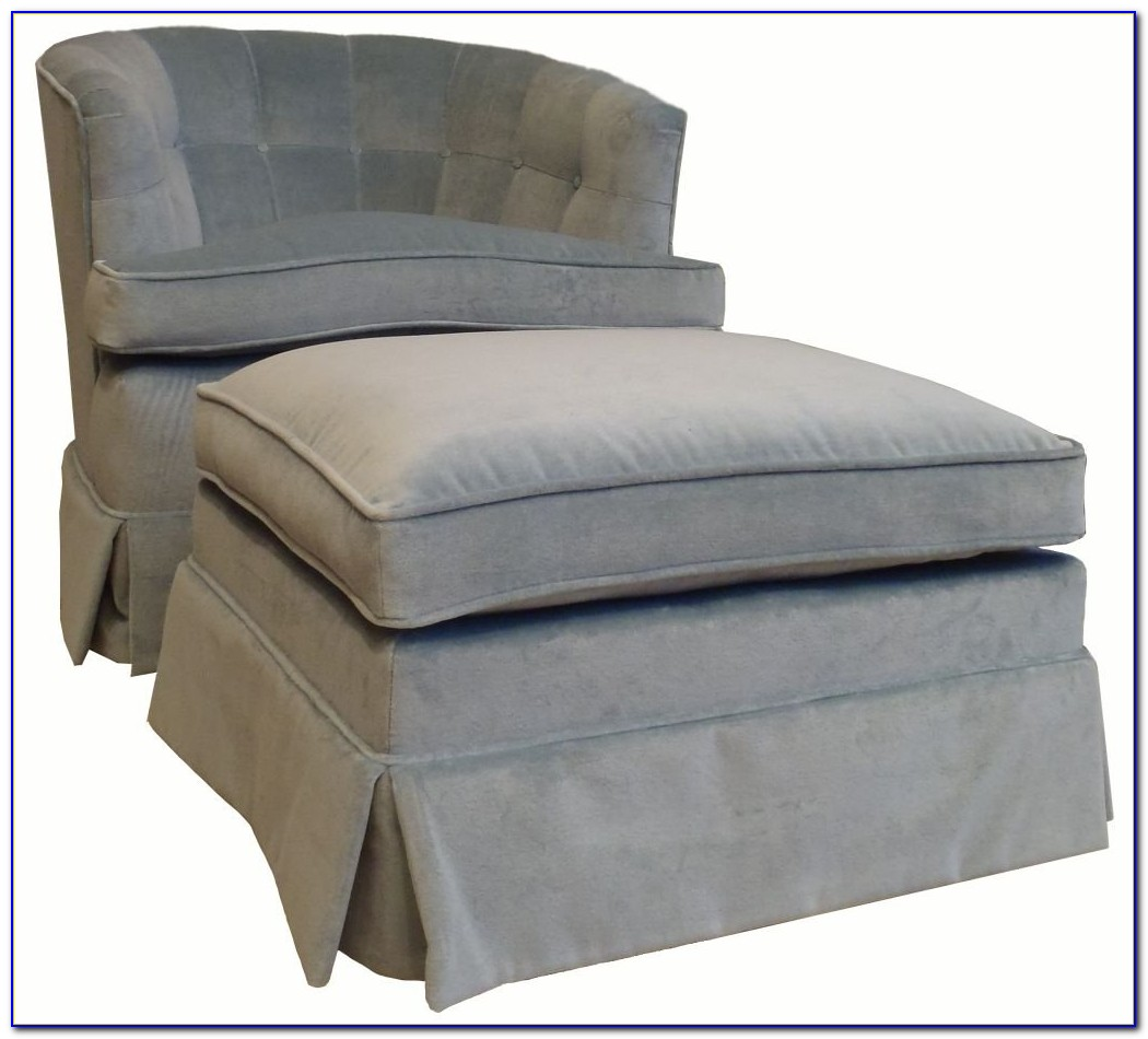 Grey Oversized Chair With Ottoman