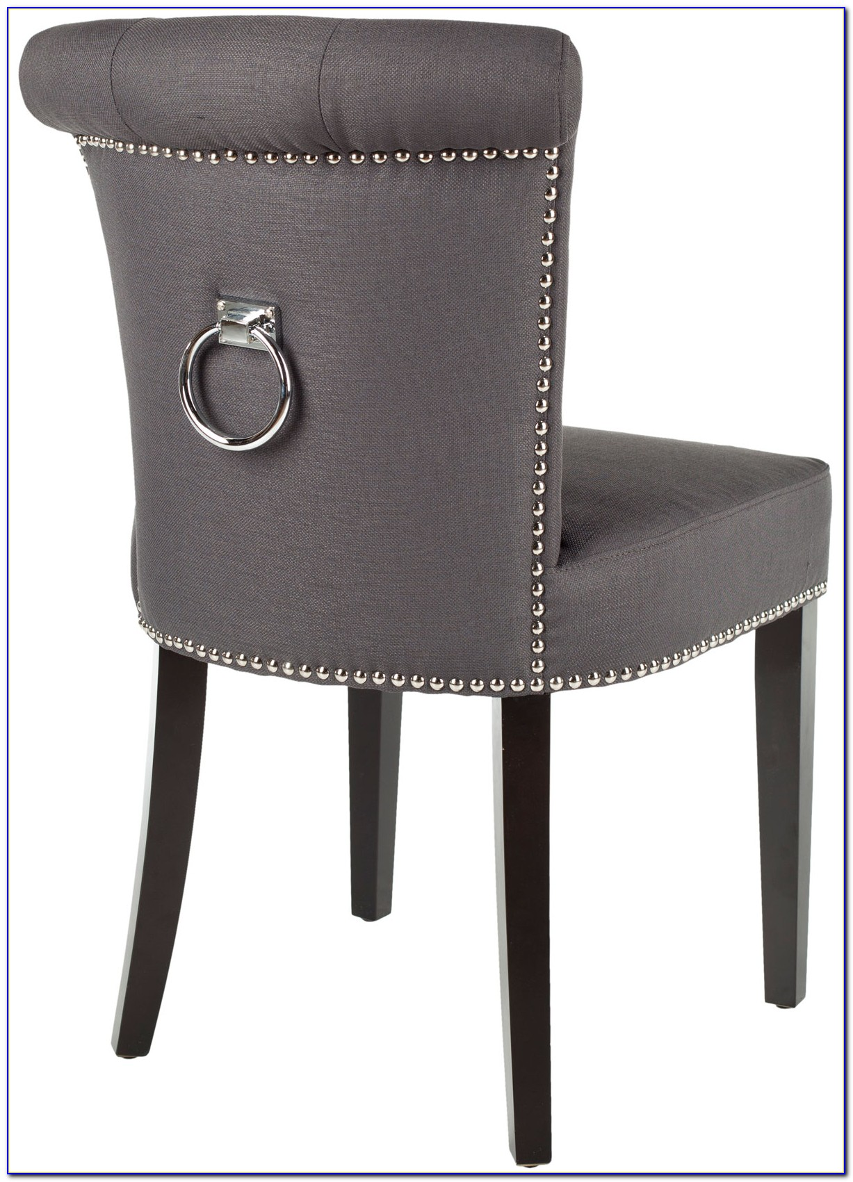 Grey Ring Back Dining Chair