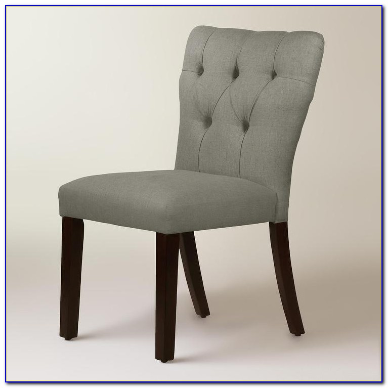 Grey Tufted Dining Chair By Barbara Barry