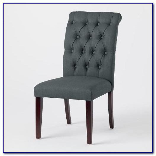 Grey Tufted Dining Chairs