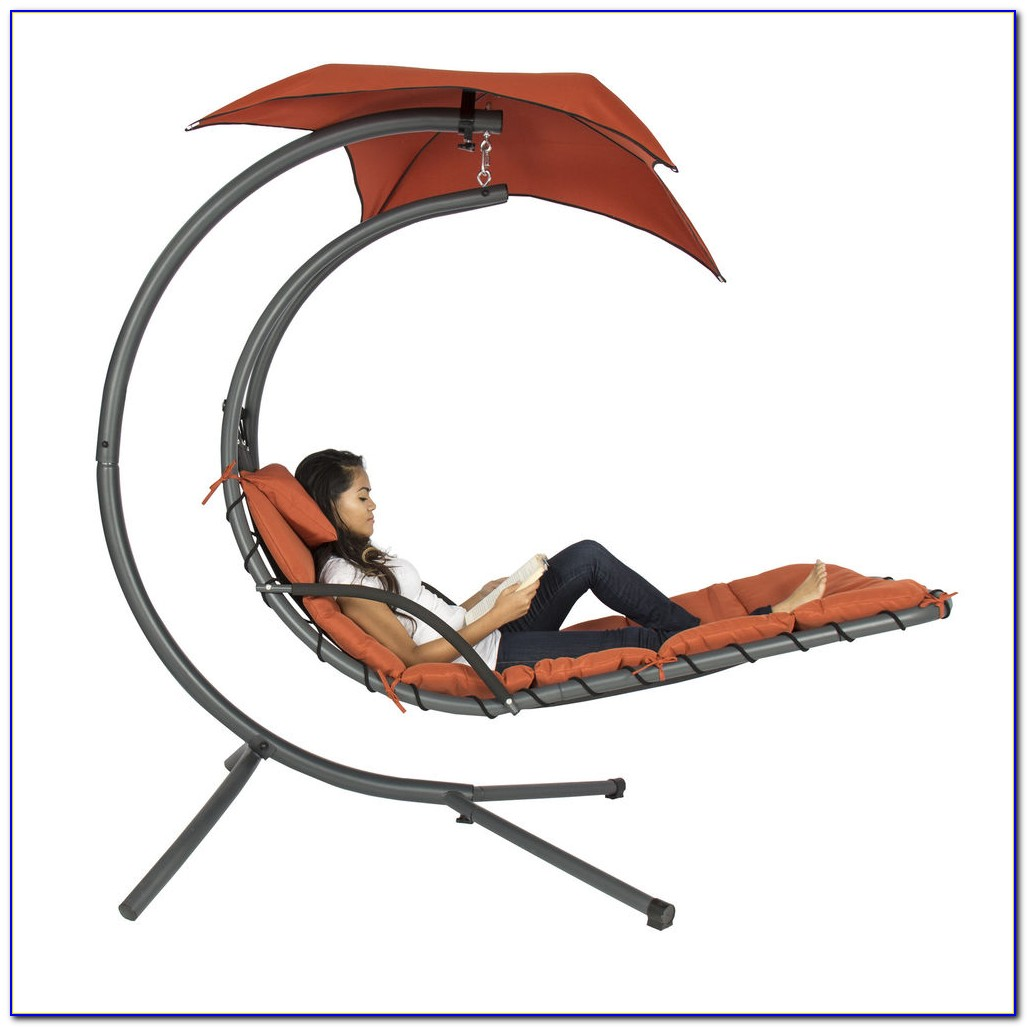 Hanging Swing Hammock Chaise Lounge Chair