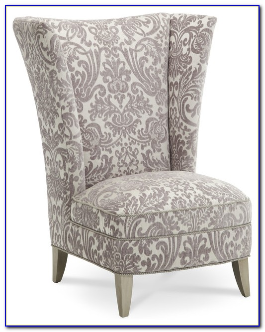 High Back Armless Accent Chair
