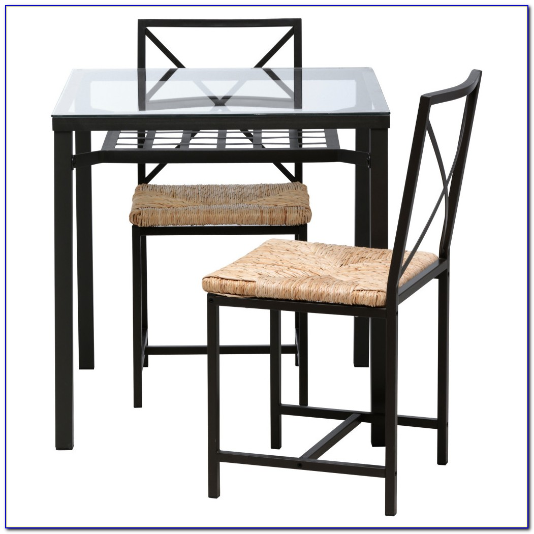 High Top Table And Chairs Black