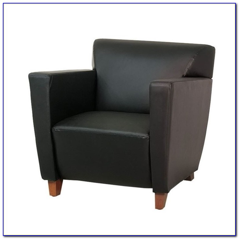 Ikea Black Leather Club Chairs