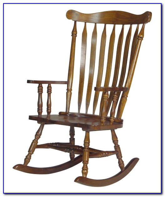 Indoor White Wood Rocking Chair