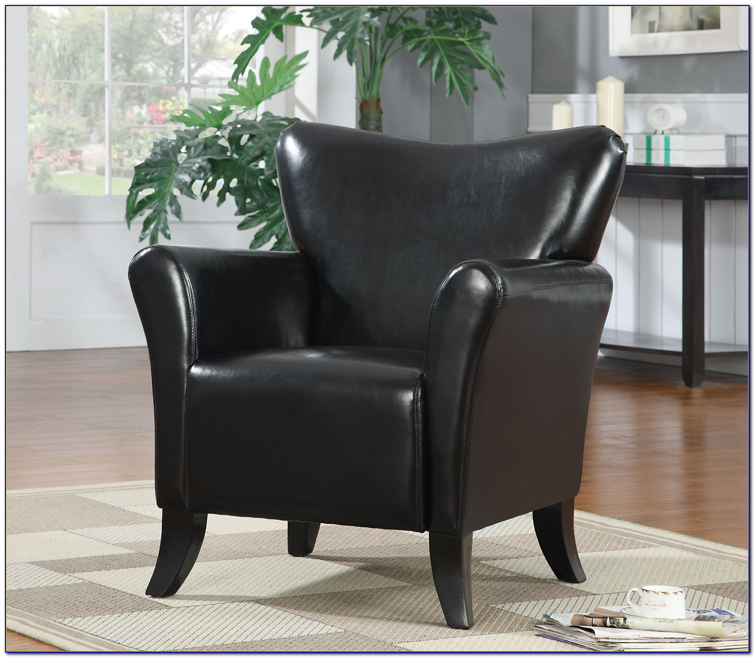 Josie Faux Leather Accent Chair