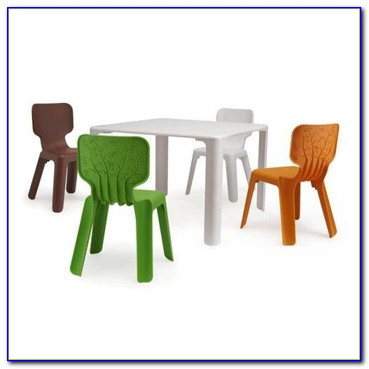 Kid Table And Chair Set With Storage
