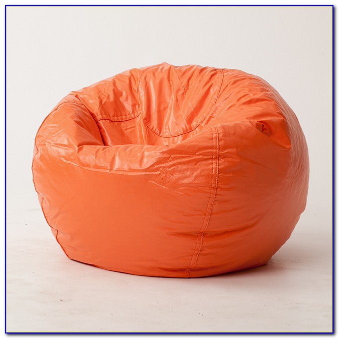 Large Orange Bean Bag Chair