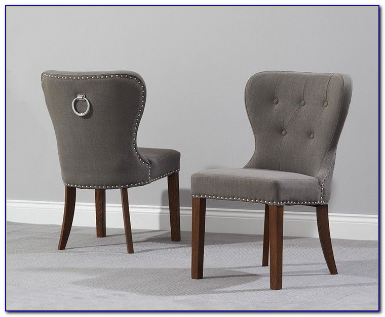 Leather Ring Back Dining Chairs