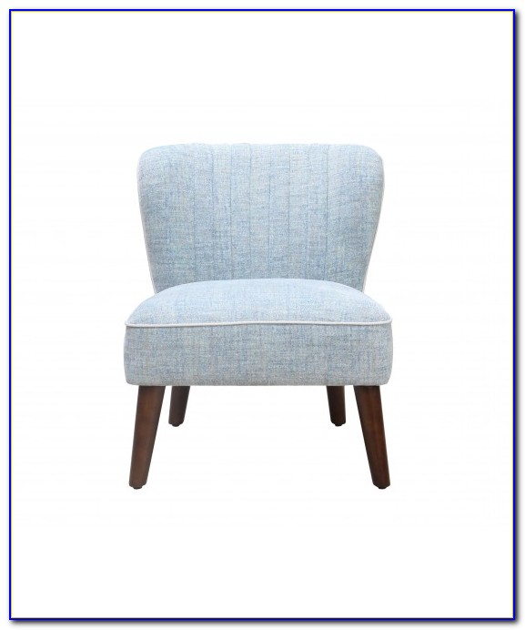 Light Blue Paisley Accent Chair