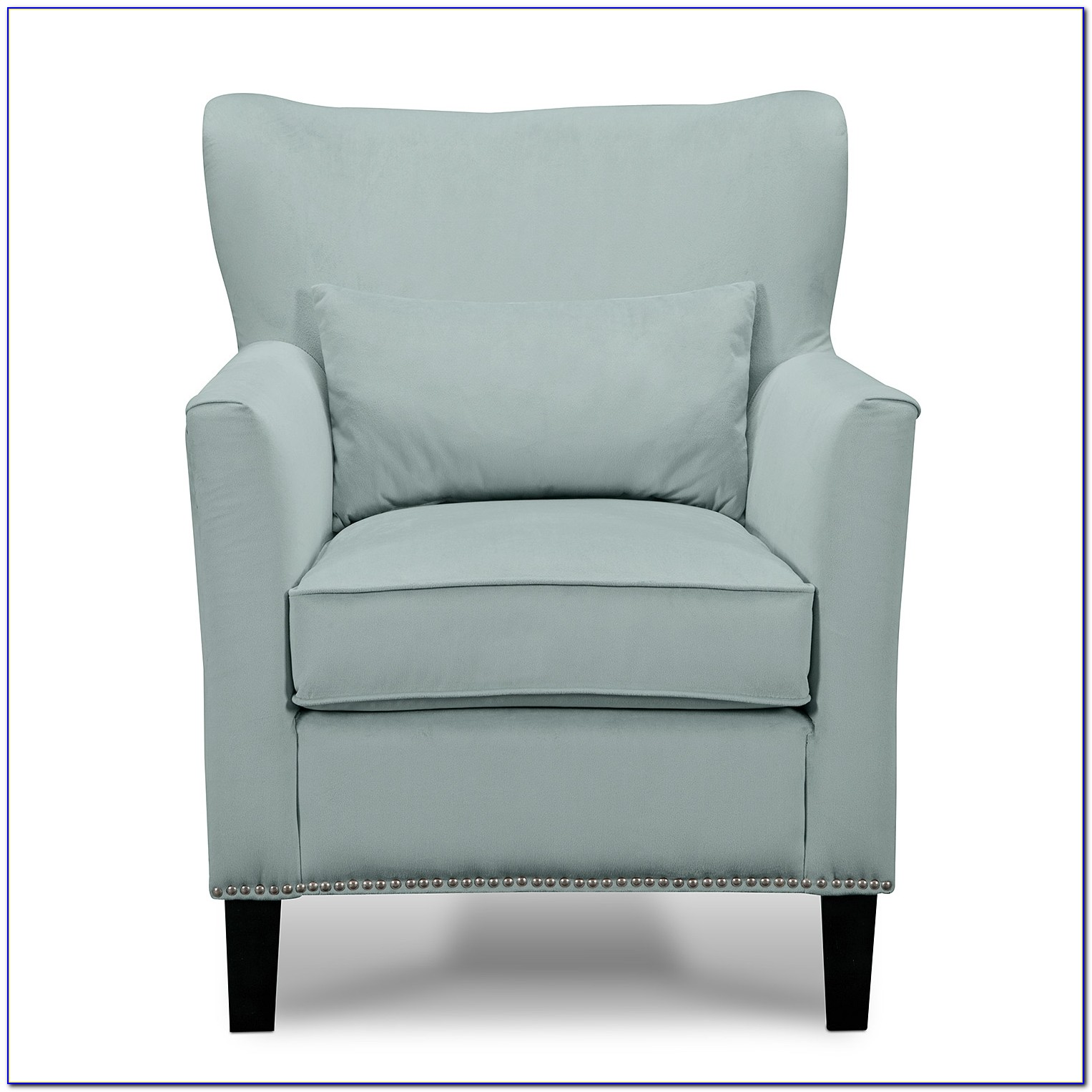 Light Blue Patterned Accent Chair