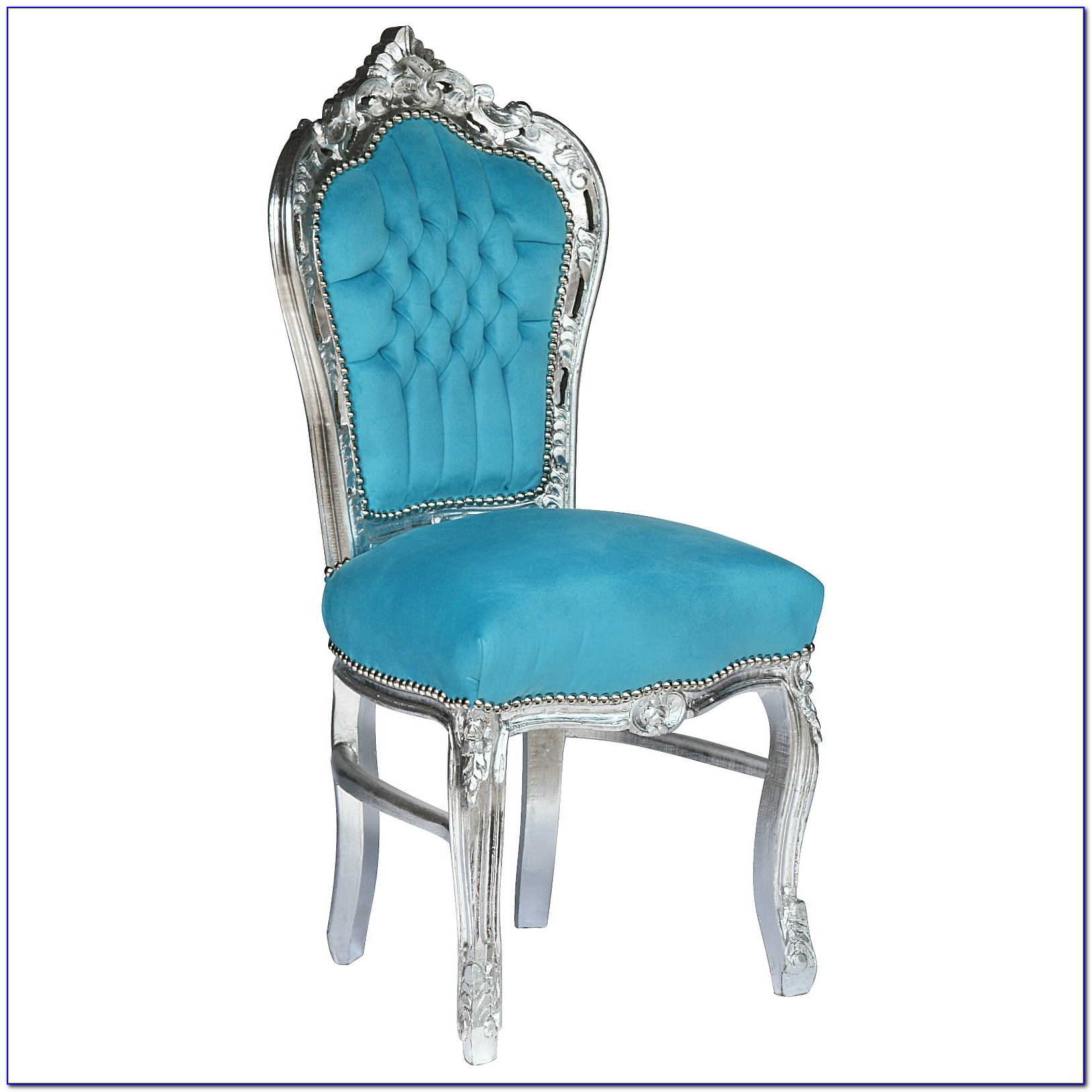 Light Blue Velvet Dining Chairs