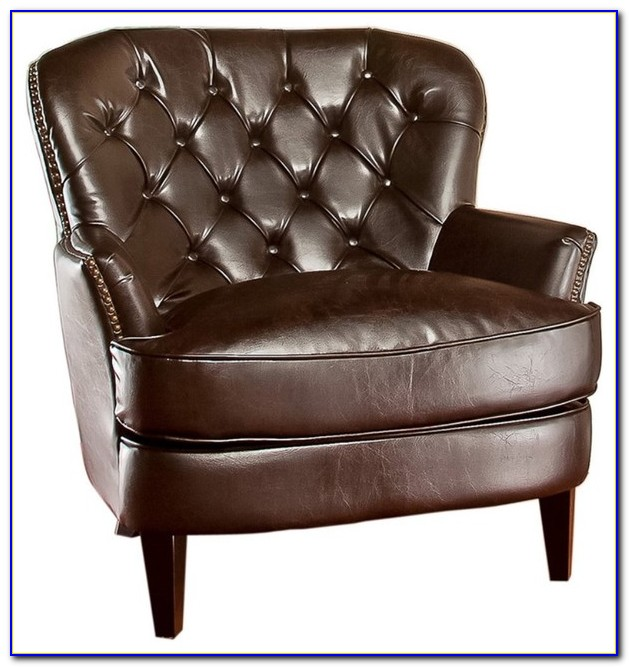 Light Brown Leather Club Chair