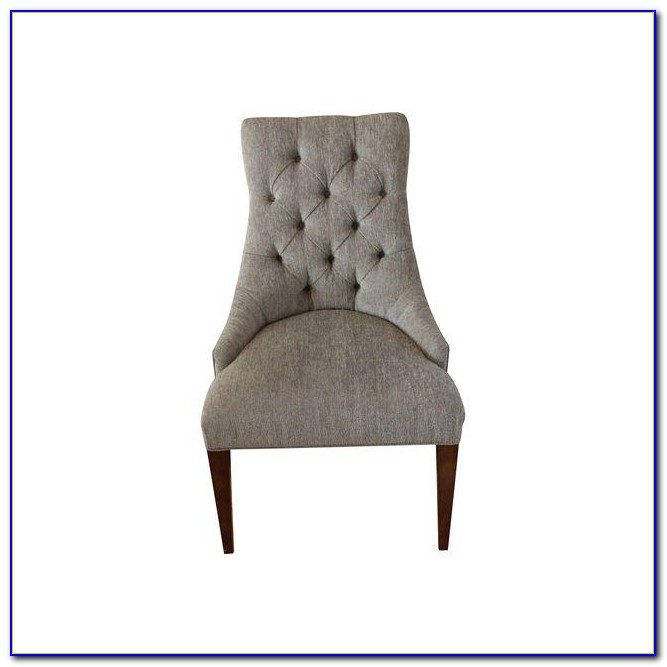 Light Grey Tufted Dining Chairs