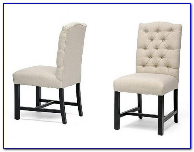 Linen Tufted Dining Room Chairs