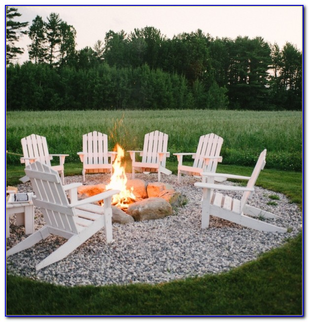 Lounge Chairs Around Fire Pit