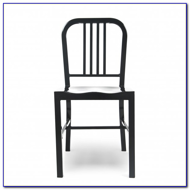 Matte Black Metal Dining Chairs