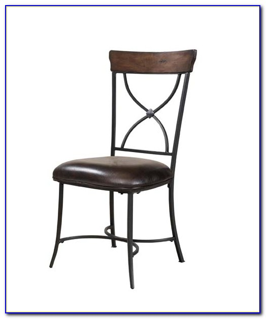 Metal X Back Dining Chair