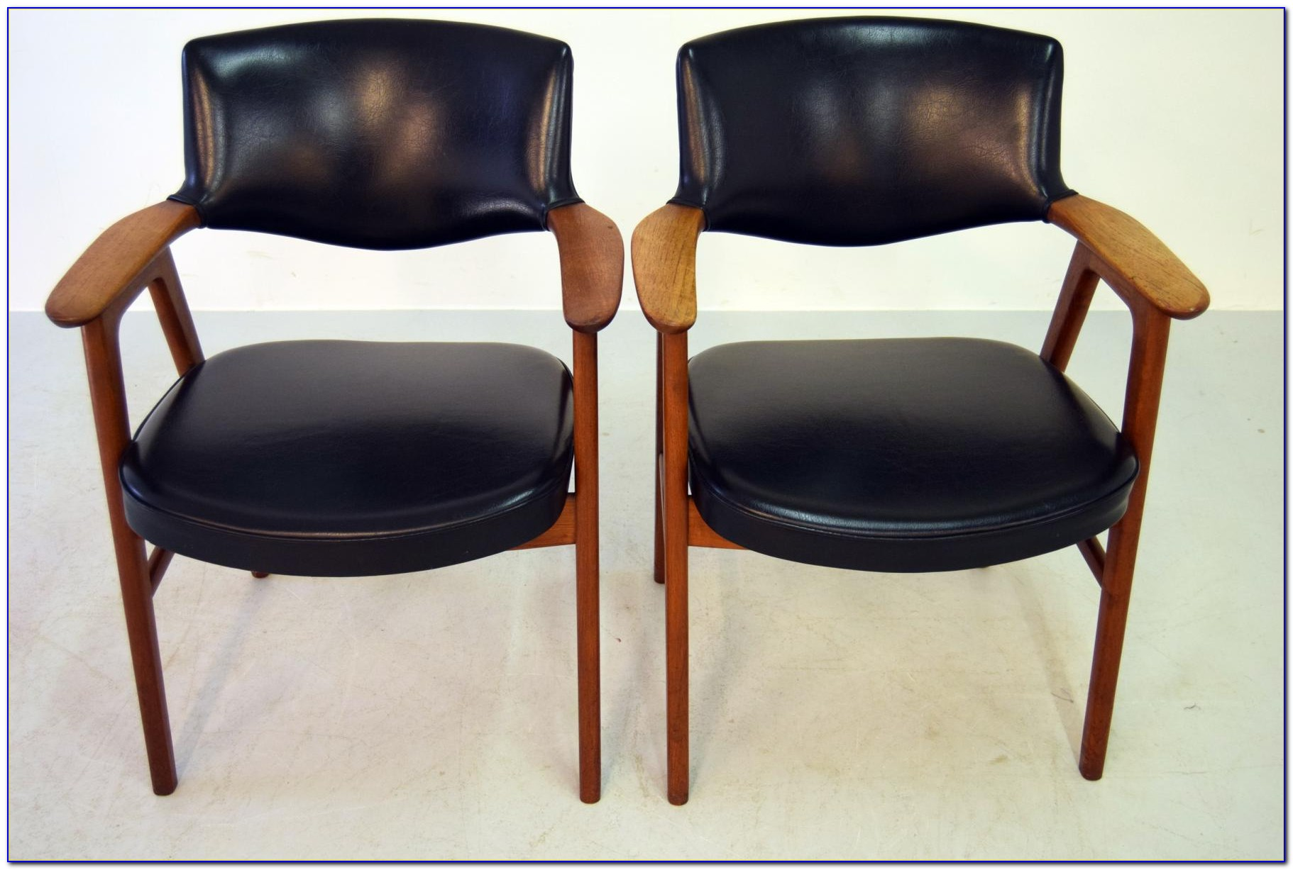Mid Century Leather Office Chair