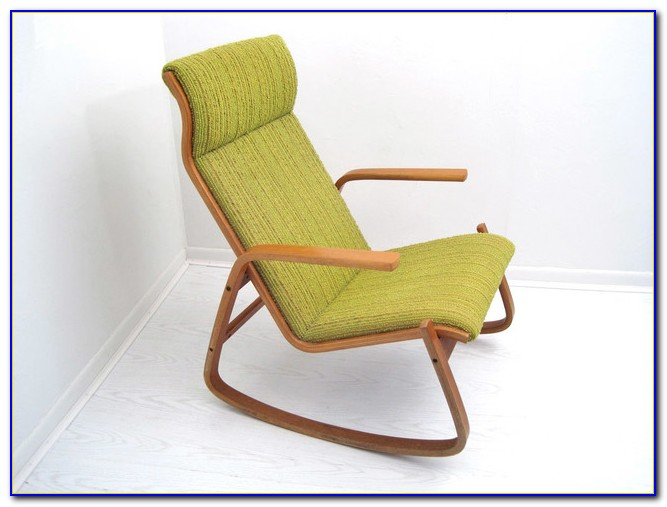 Mid Century Modern Danish Rocking Chair