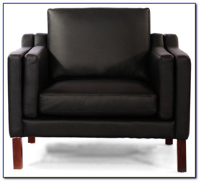 Mid Century Modern Leather Armchair