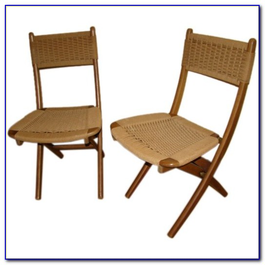 Mid Century Teak Folding Chairs