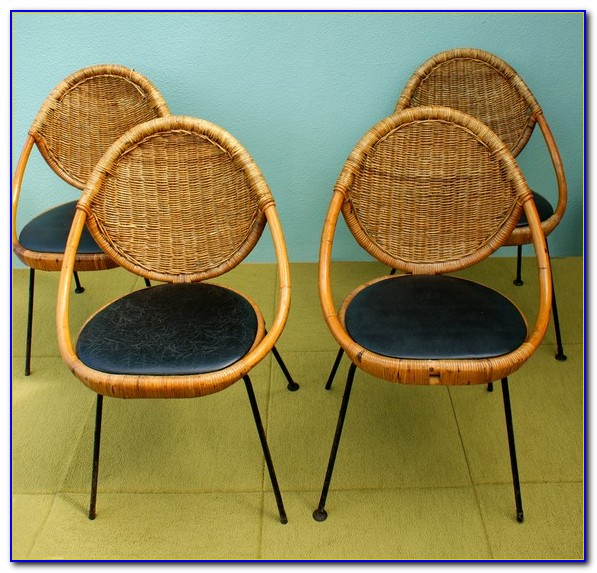 Mid Century Wicker Basket Chair