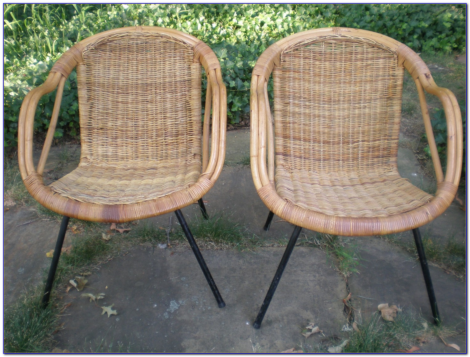 Mid Century Wicker Dining Chair