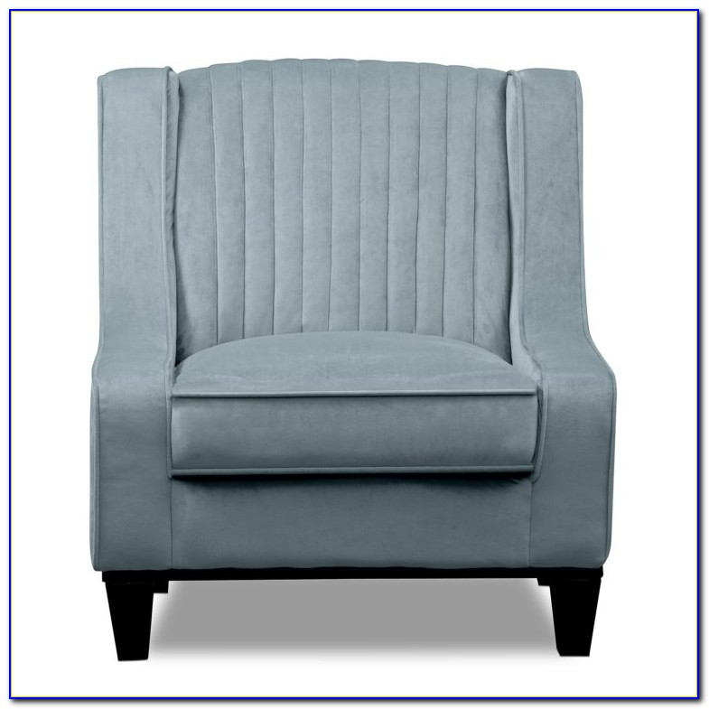 Modern Light Blue Accent Chair