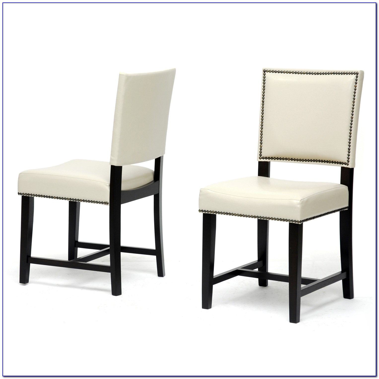 Modern White Leather Dining Room Chairs