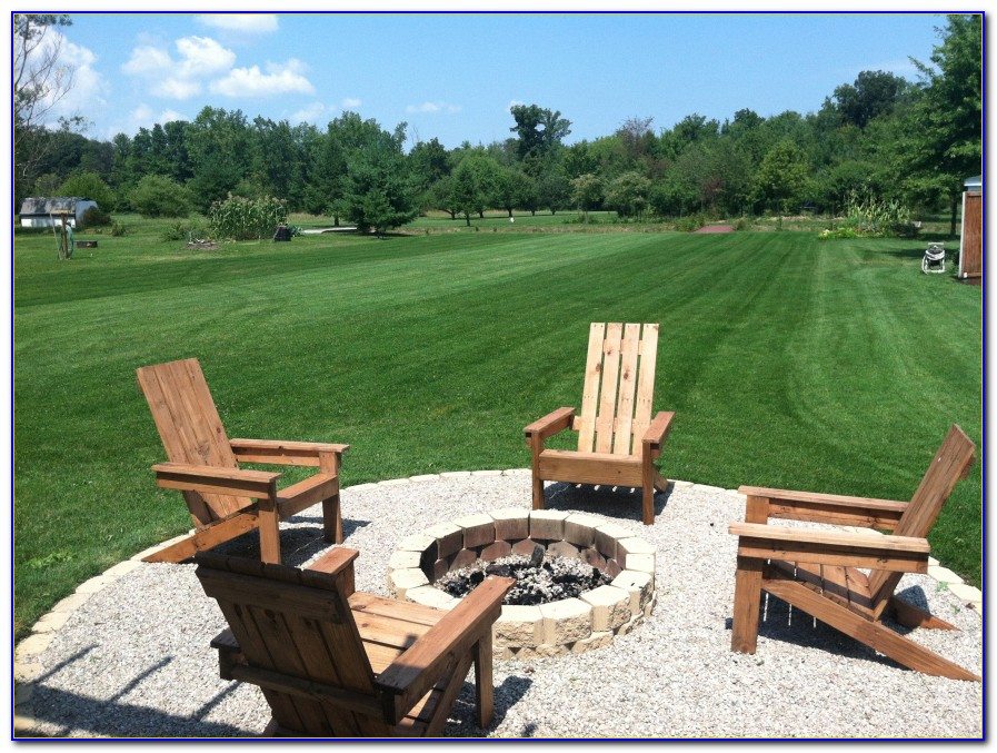 Muskoka Chairs Around Fire Pit