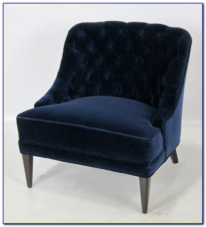 Navy Blue Club Chair
