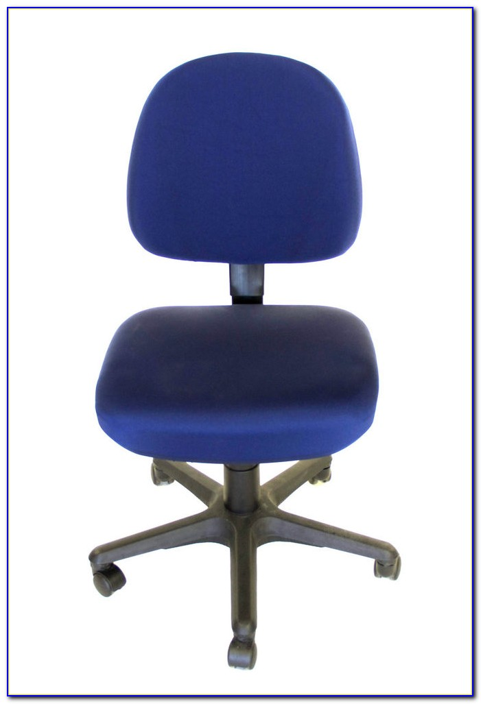 Navy Blue Leather Desk Chair