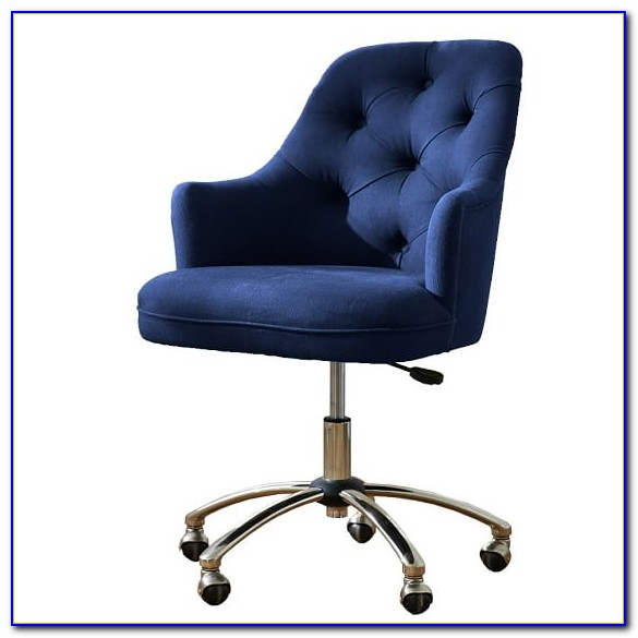 Navy Blue Leather Office Chairs