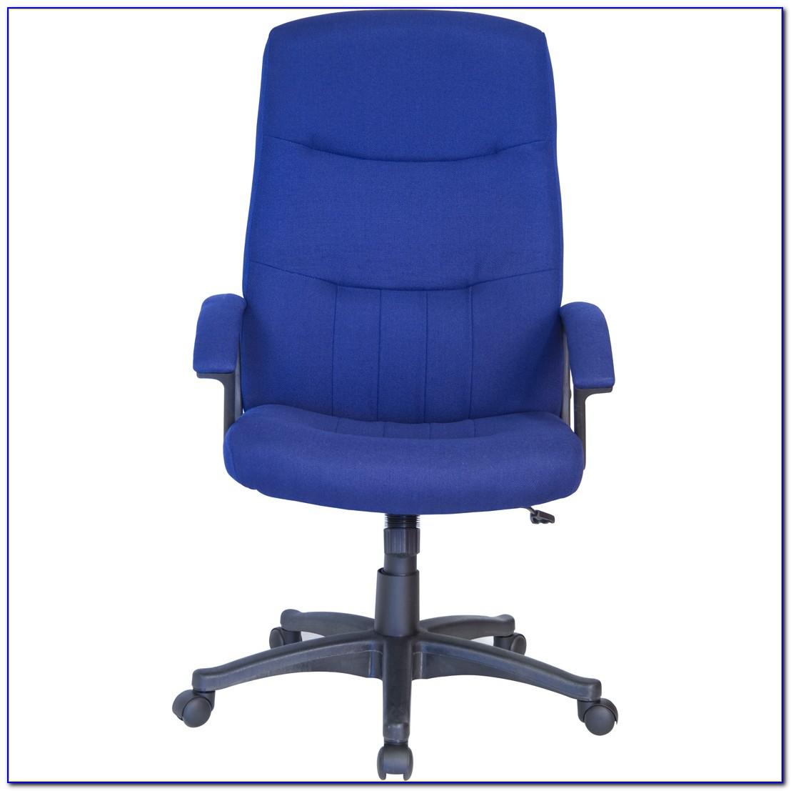 Navy Blue Upholstered Desk Chair