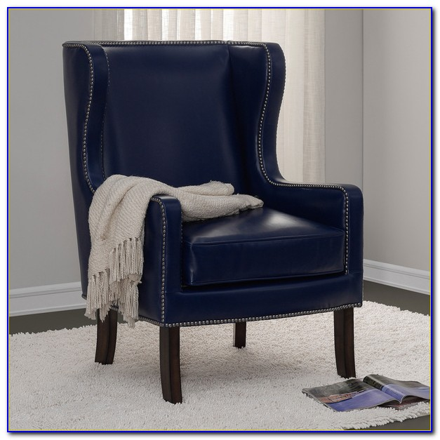 Navy Blue Wingback Chair Slipcover