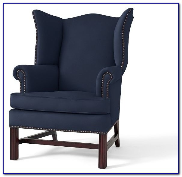 Navy Blue Wingback Chairs