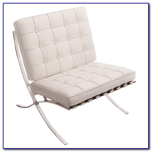 Off White Leather Accent Chair