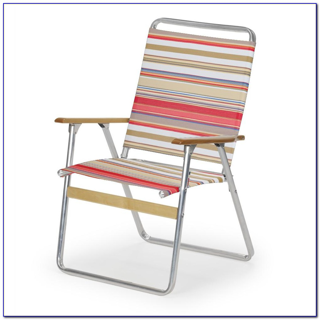 Old Style Aluminum Folding Lawn Chairs