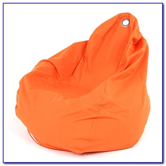 Orange Fuzzy Bean Bag Chair